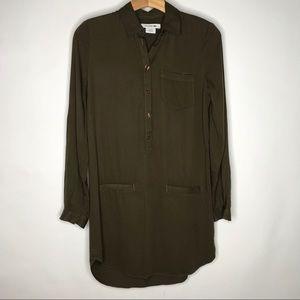 Lacoste | Olive Green Long Sleeve Dress